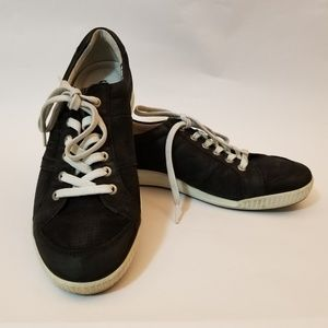 ECCO Black Soft Leather Sneakers | Casual Shoes
